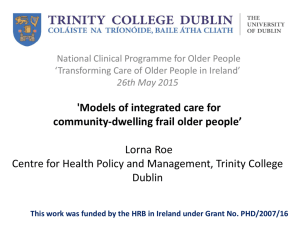 Models of Integrated Care for the Frail Older People