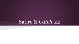 Satire & Catch-22 - Highline Public Schools