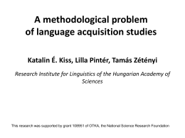 *Ostention effect* in language acquisition experiments