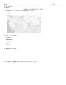 Hinduism and Buddhism Study Guide - Mr. Mize