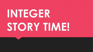 integer story time! - West Ada School District