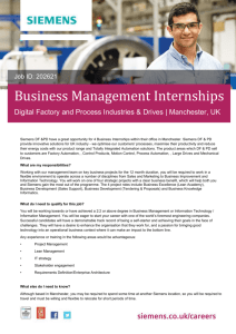 Business Management Internships