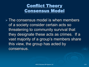 Conflict Theory and Criminology - McGraw