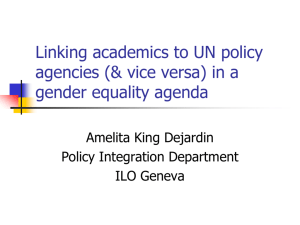 Linking academics to UN policy agencies (& vice versa)