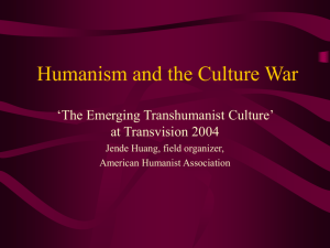 Humanism and the Culture Wars