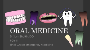 Analgesics, refer to dentist - Sinai