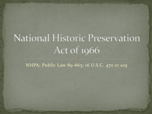 National Historic Preservation Act of 1966