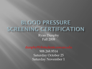 Blood pressure screening certification