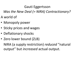 Eggertsson, Was the New Deal Contractionary?