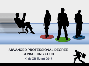 Powerpoint slides for Kick-off event