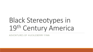 Black Stereotypes in 19th Century America