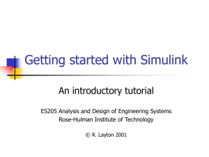 Getting started with Simulink - Rose