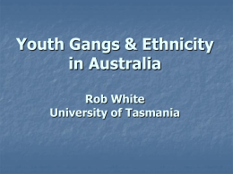 Youth Gangs & Ethnicity in Australia