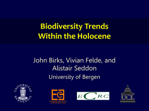 Biodiversity Trends Within the Holocene