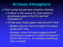 Earth's Climate System Today