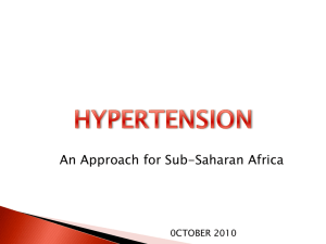 An Approach for Sub-Saharan Africa 2010 Dr. Linda hawker