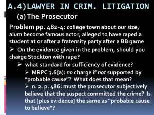 A.4) THE LAWYER IN CRIMINAL LITIGATION
