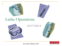 Lathe Operations Powerpoint