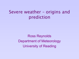Severe weather – origins and prediction
