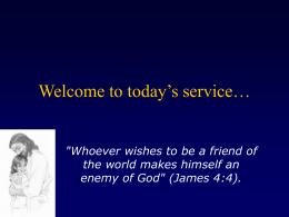 Welcome to today's service… - Celestial Church of Christ