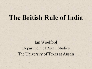 The British Rule of India - The University of Texas at Austin