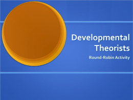 Developmental Theories - School District of Clayton
