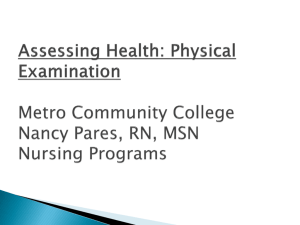 Health Assessment: Performing A Physical Examination