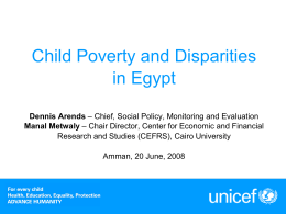 Global Study on Child Poverty and Disparities