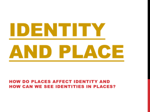 Identity, Place, and Gender PPT
