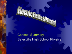 electric field - Batesville Community Schools