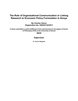 The Role of Organizational Communication in Linking Research to