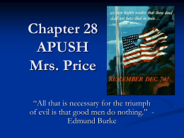 Chapter 28 APUSH