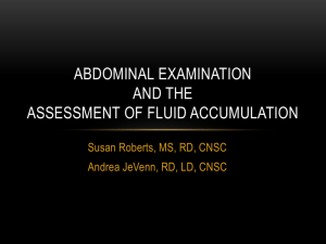 Assessment of fluid accumulation - Dietitians in Nutrition Support