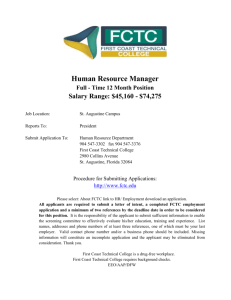 Human Resource Manager Full - Time 12 Month Position Salary