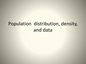 Population distribution, density, and data
