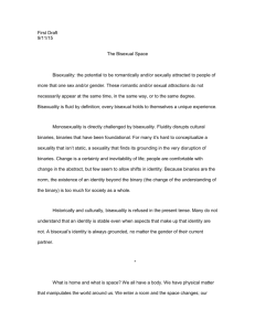Essay One – First Draft