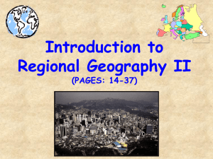 Introduction to Regional Geography - II