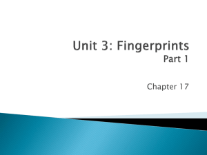 Unit 3: Fingerprints