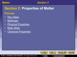 Matter Section 2 Physical Properties