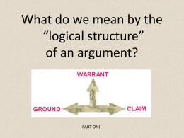structure of an argument in the context of critical thinking Critical reflection, critical reasoning, and judgment critical reflection requires that the thinker examine the underlying assumptions and radically question or doubt the validity of arguments, assertions, and even facts of the case.