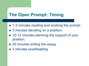 For your timed writing: