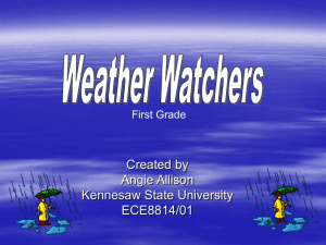 Weather Watchers - Kennesaw State University