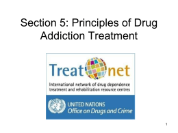 Workshop 2: Principles of Drug Addiction Treatment