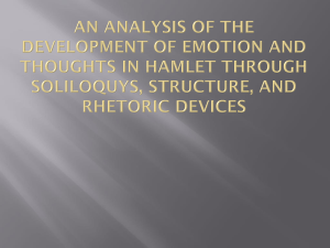 An Analysis of the Development of Emotion and Thoughts in Hamlet