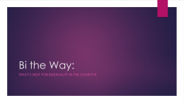 What's Next for Bisexuality in the Church