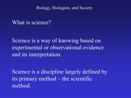 Chp 1 Nature of Science