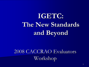 "CACCRAO Conference Training 2008 ""IGETC: The Standards"