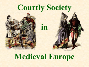 Courtly Society in Medieval Europe