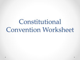 Compromise and the Constitutional Convention