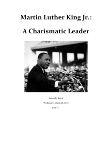 Martin Luther King Jr.: A Charismatic Leader